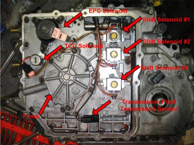 ho to replace the shift solenoid on my 2003 ford taurus ford ranger solenoid wiring diagram for 1989